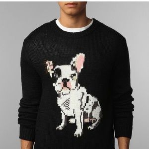 Urban Outfitters French Bulldog Sweater Sz S